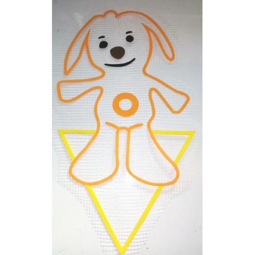 Трафарет для жидких обоев Собачка Тини Лав 30х45см