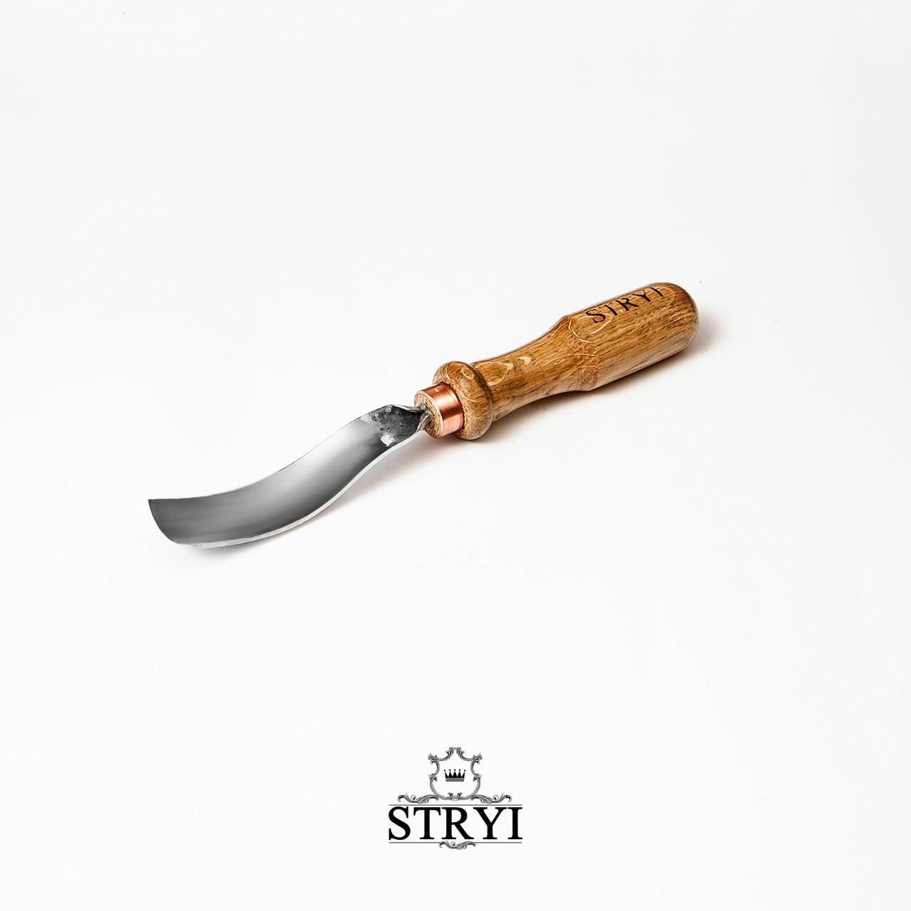 Стамеска клюкарза для резьбы по дереву, 25мм профиль №7