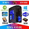 Игровой ПК ZEVS PC 9355U i5 4570 + GTX 950  + Игры!