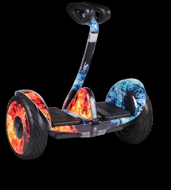Гироскутер Mini сигвей огонь-лед +Bluetooth колонка
