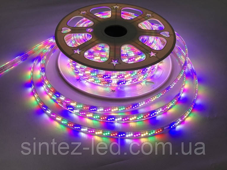 Светодиодная лента Premium SL-16RGBWYP SMD 2835/180 220V RGB 4Pin IP65 (1м) Код.59507