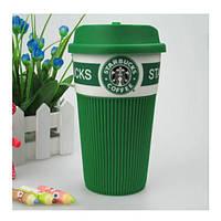 Термокружка Starbucks Старбакс керамическая, цвет - зеленый, Термокружки, Термокружки