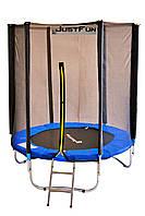 Батут Just Fun BLUE 183 (6 FT) с внешней сеткой без лестницы (Спортивный батут)
