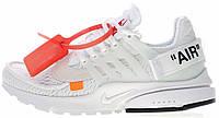 """Женские кроссовки Off White x Nike Air Presto """"White"""" (в стиле Найк Аир Престо Офф Вайт) белые"""