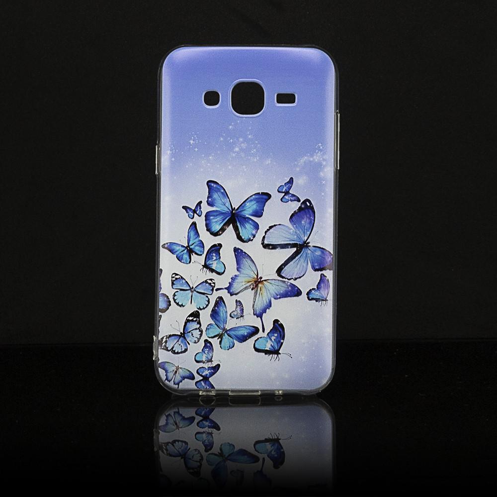 Чехол Print для Samsung J5 2015 / J500H / J500 / J500F силиконовый бампер butterflies blue