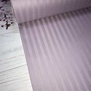 Сатин 100% хлопок  (ТУРЦИЯ шир. 2,4 м) Stripes сиреневый ОТРЕЗ(Размер 1,2*2,4м)