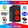 Супер Игровой ПК ZEVS PC8990U FX8300 +GTX 960 4GB