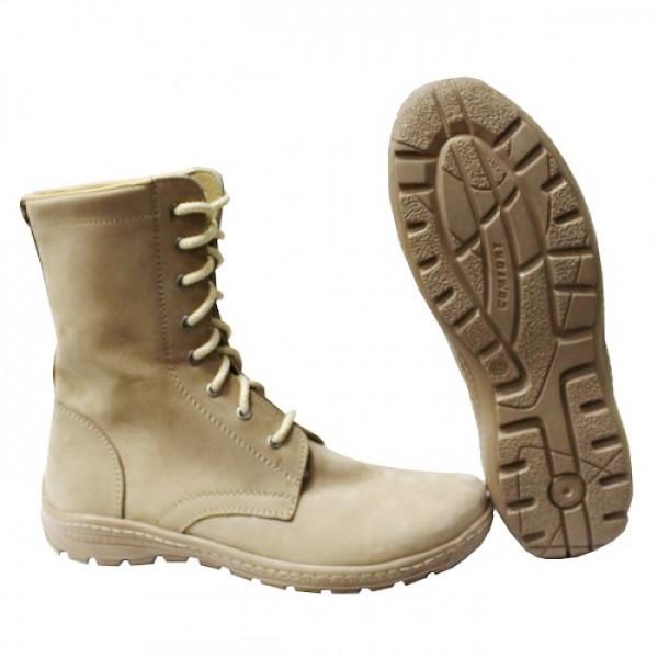 Берцы (ботинки с высокими берцами) кожа облегченные STIMUL Осень демисезон ПУ (литая) подошва Койот