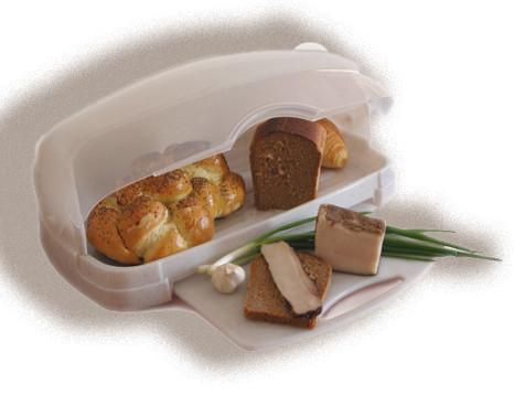 Хлебница пластиковая с кухонной доской консенсус