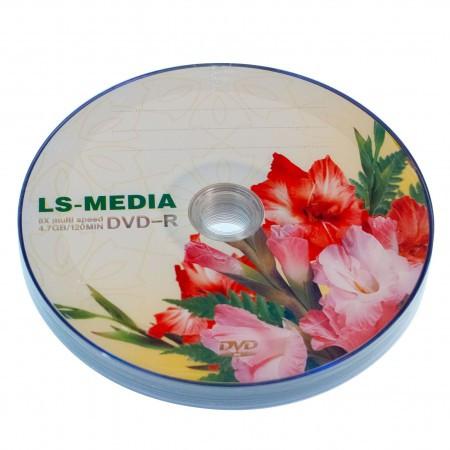 LS-MEDIA DVD-R 4.7Gb 16x bulk 10 ГЛАДИОЛУСЫ