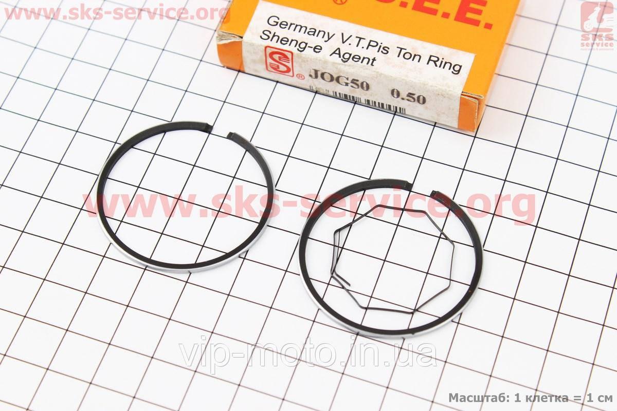 Кольца поршневые Yamaha JOG50 40мм +0,50 желтая коробка