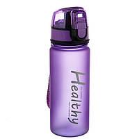 """Яркая спортивная бутылка для воды 400мл """"Healthy"""" 20см"""