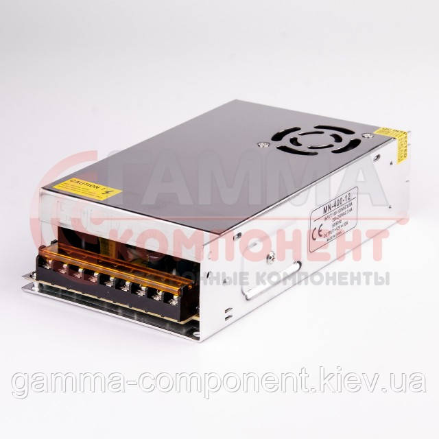 Блок питания 12В перфорированный Compact, 33A 400Вт, IP20