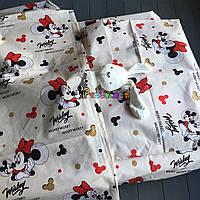 Постельный набор в детскую кроватку (3 предмета) Микки маус, фото 1
