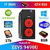 Игровой ПК ДЛЯ СТРИМА! ZEVS PC9490U i7 2600 + GTX 950 2GB