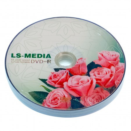 LS-MEDIA DVD-R 4.7Gb 16x bulk 10 РОЗЫ