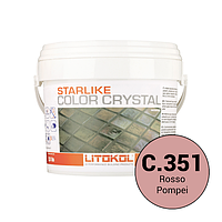 Litokol Starlike Color Crystal C.351 Красный 2,5 кг двухкомпонентная затирка для фуги