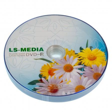 LS-MEDIA DVD-R 4.7Gb 16x bulk 10 РОМАШКИ