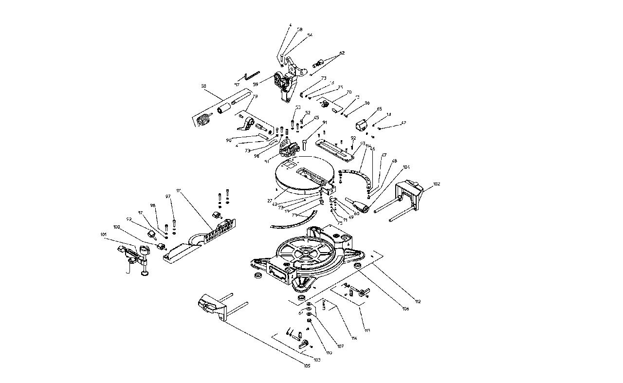 Комплект шкал для торцювальної пили Metabo KS 216 та KGS 216   Позиція - 73