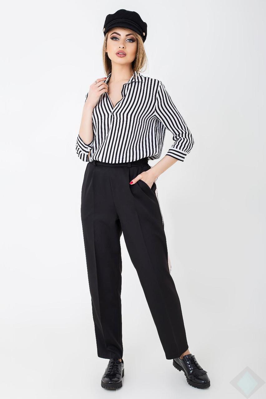 Трендовые женские брюки с лампасами Мелисса