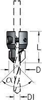 Зенковка сборная для монтажа на корпусе сверла HSS D6÷10/21,5÷25,5, фото 1