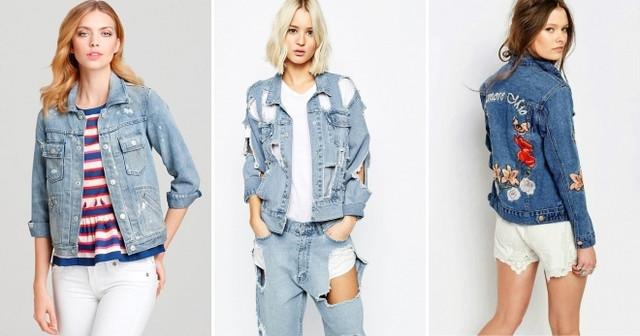 Стильные женские джинсовые куртки и жилетки