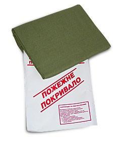 Кошма (покрывало) пожарная 2-слойная брезент (1,4м*1,8м)