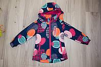 Демисезонная курточка на флисе для девочки 4 -12 л