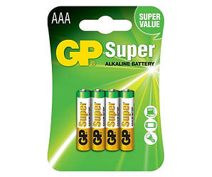 Алкалайновая батарейка GP Super Alkaline AAA 1шт