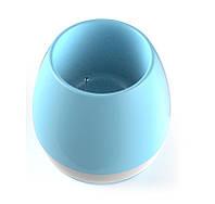 Умный горшок, блютуз колонка для телефона, Smart Music Flower-pots, цвет - голубой, Портативні колонки і акустика, Портативные колонки и акустика
