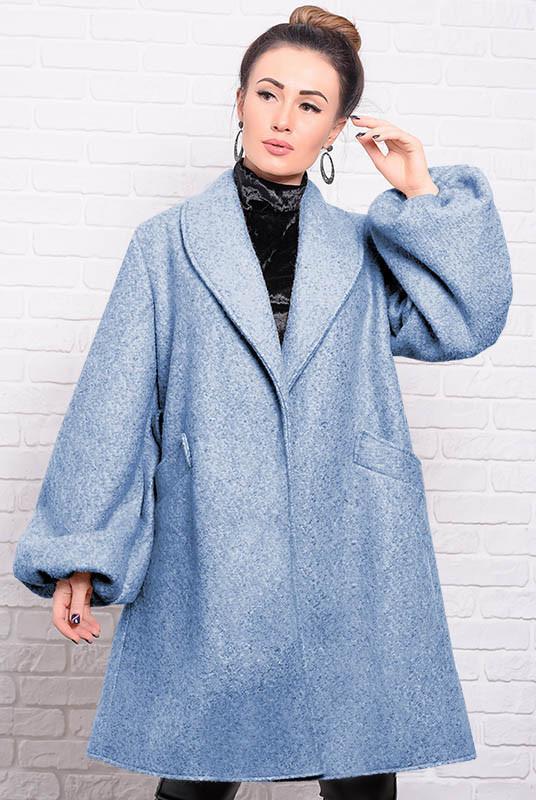 Голубое демисезонное пальто Майа