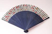 Веер из бамбука и шёлка (21 cм)
