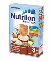 Молочная каша Nutrilon пшенично-рисовая с яблоком и грушей нутрилон, 225 г,