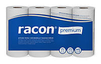 Полотенца кухонные бумажные TEMCA Racon Premium 3-х слойные, 51 лист, 22см х 25cм (4 рулона) 12,75м/р