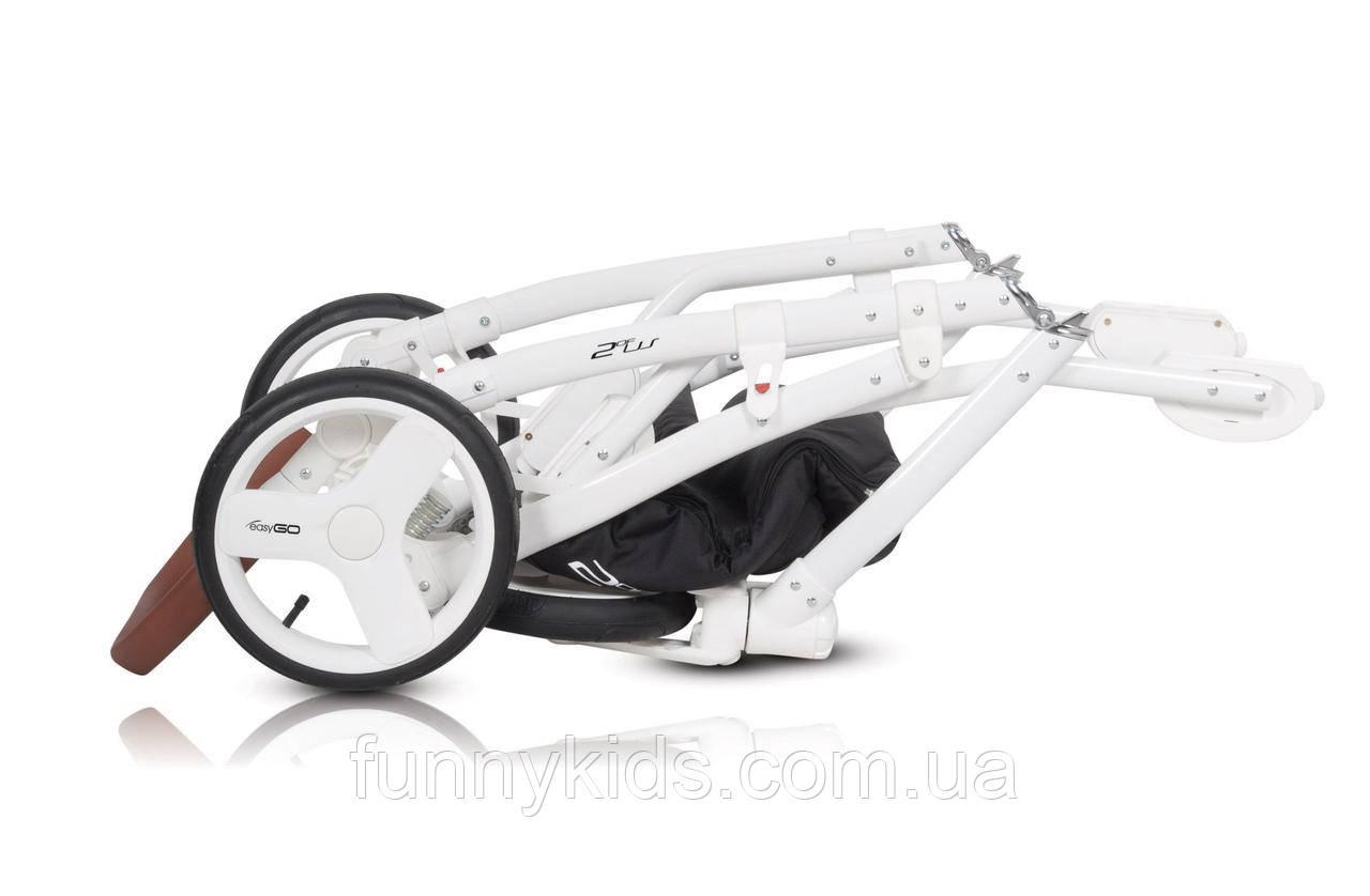 универсальная коляска 2 в 1 для двойни Easy Go 2of Us Latte доставка нп в подарок Bigl Ua
