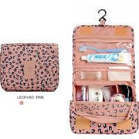 Дорожная косметичка с вешалкой Genner розовый леопард 01012/07, фото 1