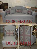 Эксклюзивный диван и кресла в английском стиле по визуализации дизайнера на заказ