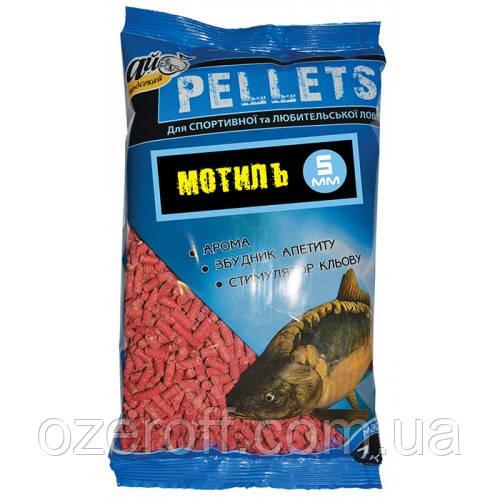Гранулированная прикормка Pellets МОТЫЛЬ (5 мм Ø красные) 1000г