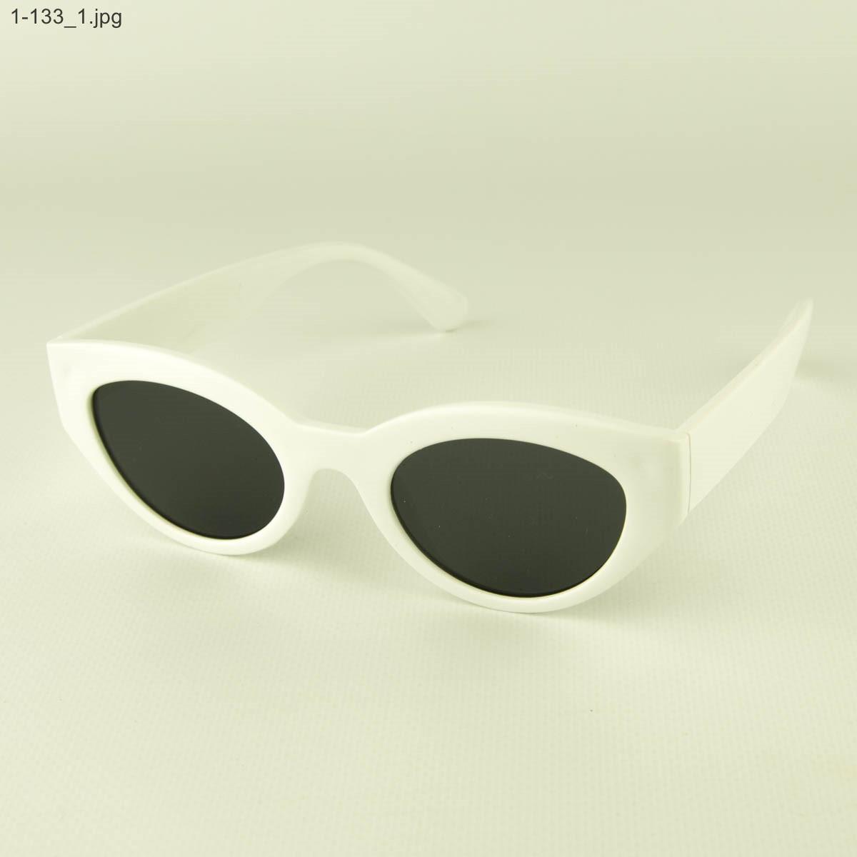 Солнцезащитные очки овальной формы - Белые - 1-133