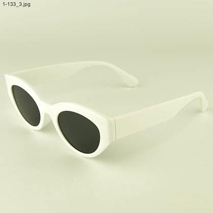 Солнцезащитные очки овальной формы - Белые - 1-133, фото 3