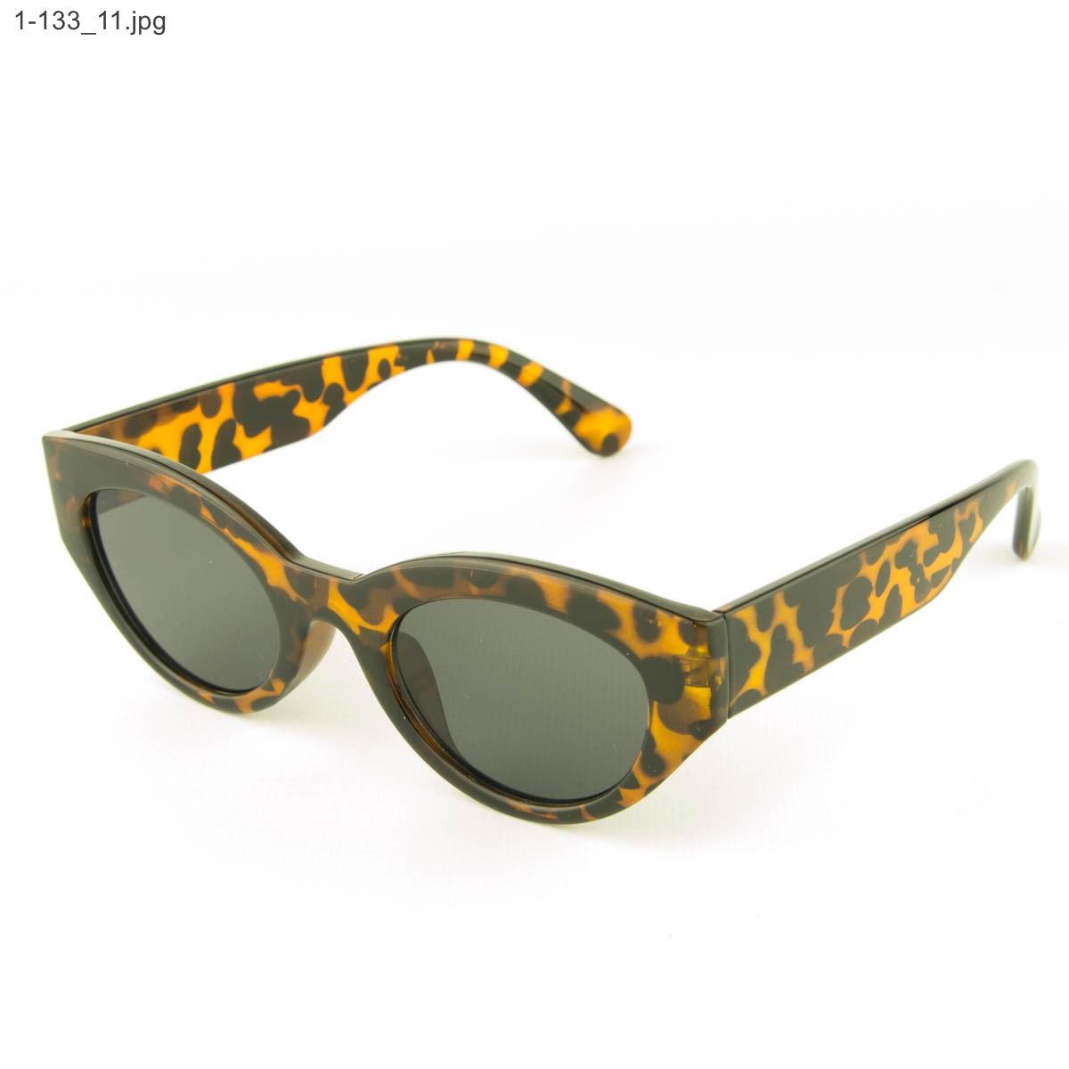 Солнцезащитные очки овальной формы - Леопардовые - 1-133