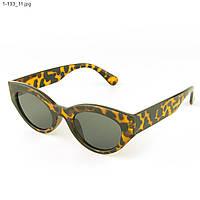 Солнцезащитные очки овальной формы - Леопардовые - 1-133, фото 1