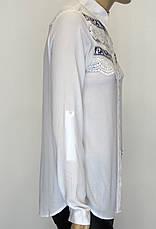 Жіноча сорочка з вишивкою і мереживом , фото 3