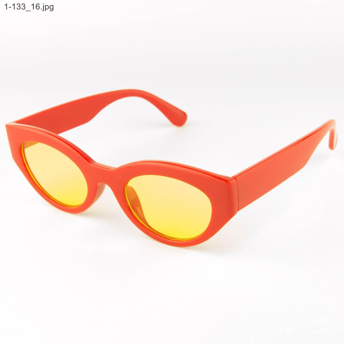 Солнцезащитные очки овальной формы - Красные - 1-133
