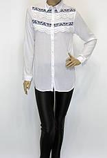 Жіноча сорочка з вишивкою і мереживом , фото 2