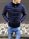 Куртка мужская синяя Турция. Живое фото (весенняя куртка), фото 2