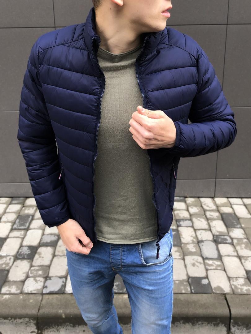 Куртка мужская синяя Турция. Живое фото (весенняя куртка)