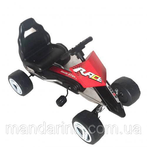 Детская педальная машина веломобиль  КАРТ M 4038-3 красный