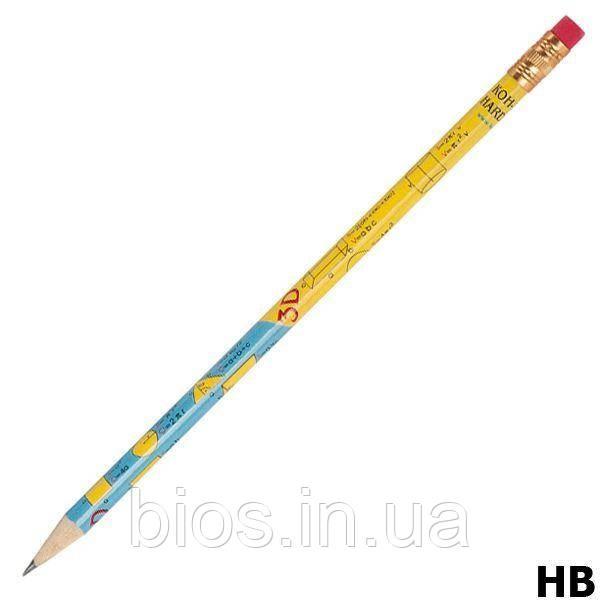 Олівець граф. HB, гумка  KOH-I-NOOR геометрич.формули