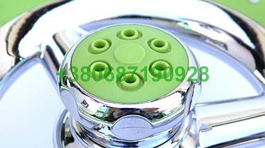 Велика кругла лійка для душу зелена. Тропічний душ. Тропічна лійка., фото 2